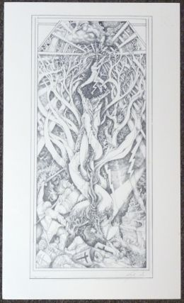 "A signed, limited-edition print of an original tarot design ""Tower"" by Leigh McCloskey. Leigh J...."