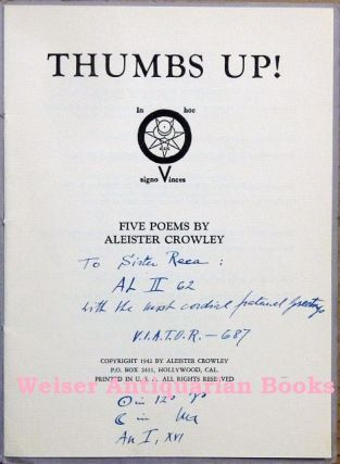 Thumbs Up! Five Poems by Aleister Crowley.