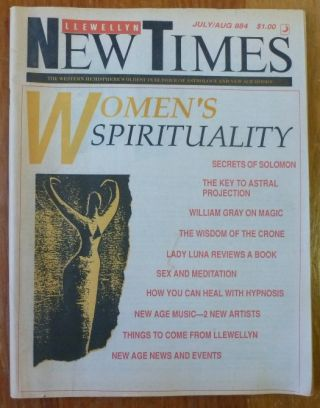 The Llewellyn New Times. Issue Number 884, July/August 1988. Donald Michael KRAIG, Contributors...