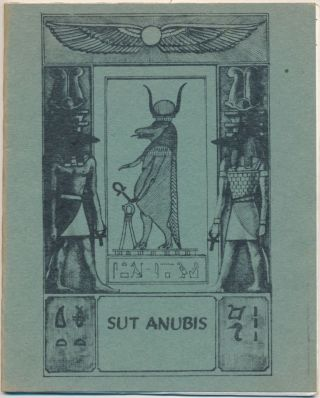 Sut Anubis - Vol.2, No.3. Anonymous, related works Aleister Crowley