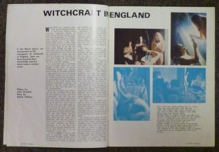 """""""Witchcraft in England"""" article in """"Squire: The New Magazine for Modern Men,"""" Vol. 3, No. 11, September 1967."""