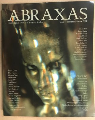 Abraxas. An International Journal of Esoteric Studies. No 2, Summer Solstice 2011 ( w/ audio CD...