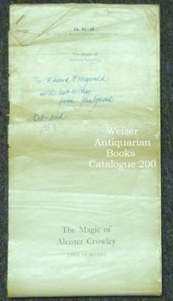 The Magic of Aleister Crowley - Original Galley Proofs. Inscribed. Aleister - related works CROWLEY, John Symonds.