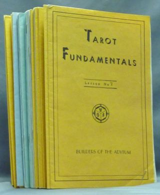 Tarot Fundamentals, Lessons 1 - 47 ( Set of 47 Booklets ). Paul Foster CASE.