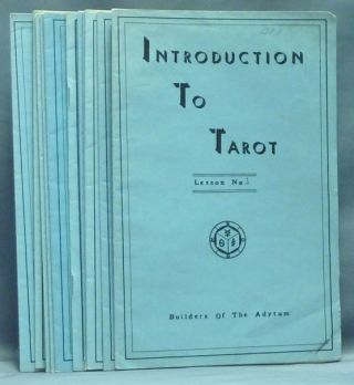 Introduction to the Tarot, Lessons 1 - 11 ( 11 Booklet set ). Paul Foster CASE.