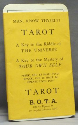 "B.O.T.A. Tarot [ Man, Know Thyself. A Key to the Riddle of the Universe. A Key to the Mystery of Your Own Self. ""Seek and Ye Shall Find, Knock , and it Shall be Opened Unto You!"" Paul Foster CASE, B. O. T. A. BOTA."