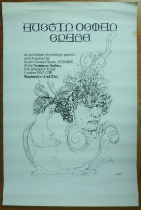 A Poster advertising the Exhibition of Paintings, Pastels and Drawings by Austin Osman Spare, 1888-1956 at the Taranman Gallery, September 2nd - 21st. Austin Osman Spare.