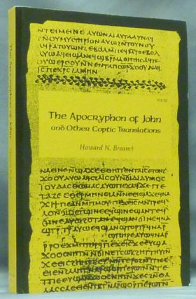 The Apocryphon of John and other Coptic Translations. Howard N. BREAM.