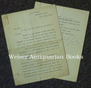 Aleister Crowley, A Typed Letter, Signed, from Aleister Crowley to an unidentified correspondent, in which he refers to the impending publication of Magick in Theory and Practice, various astrological matters, etc. Nov. 19th 1929. Aleister CROWLEY, Signed.