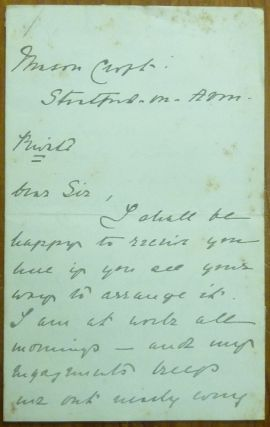 An Autograph Letter, Signed, Dated Jan 21, 1901. Marie CORELLI