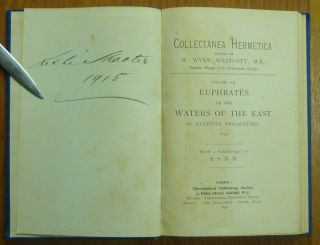 Euphrates or the Waters of the East by Eugenius Philalethes 1655); Collectanea Hermetica Volume VII