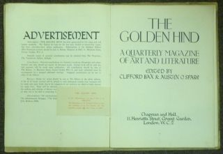The Golden Hind. A Quarterly Magazine of Art and Literature, Volume One, Number 1.