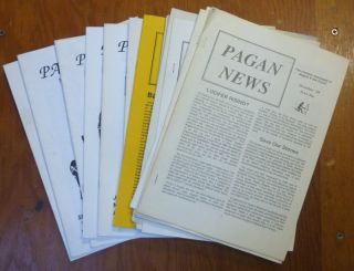 Pagan News. The Monthly Newspaper of Magick & The Occult. 18 issues, from Dec. 1988 to issue...