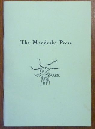 The Mandrake Press 1929-30. Catalogue of an Exhibition, Cambridge University Library September-November 1985. Arranged, with an introduction and a summary tabulation of items published by the Mandrake Press and Mandrake Press Ltd. by R.P. Carr . With a prefatory essay by Jack Lindsay. R. P. CARR, Prefatory, Compiler, Jack Lindsay, Aleister Crowley: Related materials.