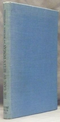 The Case of Helen Duncan. Maurice BARBANELL, Inscribed.
