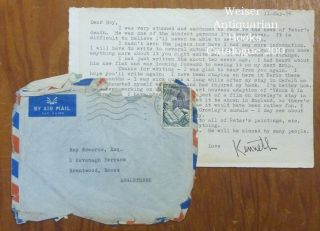 A typed letter, signed, from Kenneth Anger to a friend Roy Edwards, dated May 11, 1956. Kenneth ANGER.