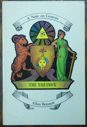 A Note on Genesis. Allan BENNETT, Aleister Crowley, a