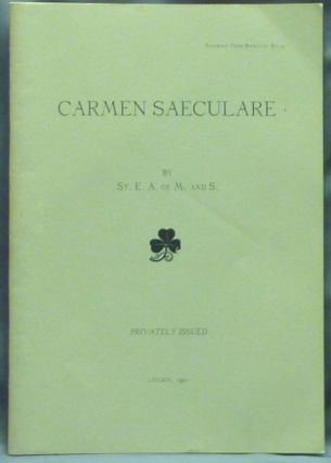 Carmen Saeculare; Mandrake Press booklets - no. 27. Aleister CROWLEY, St. E. A. of M. and S