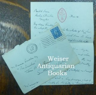 "Letter: an autograph letter, signed, from Aleister Crowley to ""My Dear Sadler"" [ W. Dawson Sadler..."