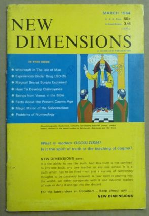 New Dimensions - February / March 1964, Vol. I, No. 6. Basil WILBY, And contributor. Essays etc....