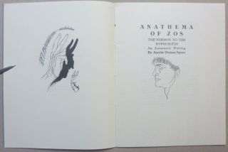 Anathema of Zos - The Sermon to the Hypocrites: An Automatic Writing. Austin Osman SPARE