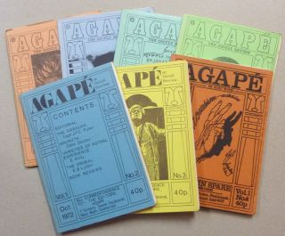Agapé. The Occult Review. Volume 1, No. 2 - 8 ( Seven issues, complete run, all published ). Aleister: related material CROWLEY, Lionel Snell Kenneth Grant.