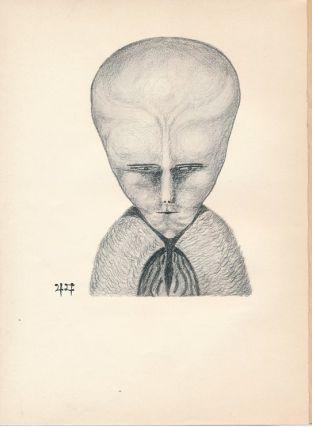 "'The Way,' [Portrait of Lam]. An Original illustration - suitable for framing - from ""The Equinox Vol. III, No 1,"" 1919 [ aka ""The Blue Equinox"" ]. Aleister: related material CROWLEY."