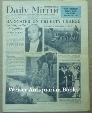 "Article, ""Court Challenge to Author. Mr. Crowley Declines to Try Magic on Counsel"" in the ""Daily Mirror,"" No. 9, 478 ( Friday, April 13th, 1934 ). Aleister: related material CROWLEY."