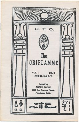 The Oriflamme, Vol. I, No. II. Aleister: related material CROWLEY.