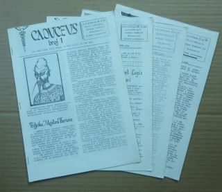 Caduceus. Broj 1 - 4, Nov. 1987, Feb. 1988, Aug. 1988, Mar. 1989 (Four issues). Aleister: related...