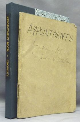 An original Appointment Book for April-May 1938, with Crowley's manuscript notes of addresses,...