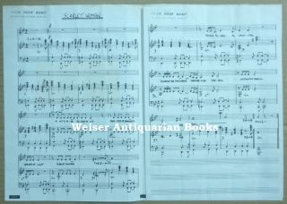 """The sheet music for the song """"Scarlet Woman"""" as performed by """"Chakra"""" and released on a 45rpm record with 'The Voice of Aleister Crowley: """"Pentagram"""" & """"La Gitana""""'."""