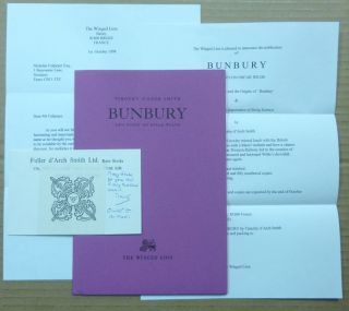 "Bunbury. Two Notes on Oscar Wilde. Aleister Crowley and the Origin of ""Bunbury' & A Source for..."