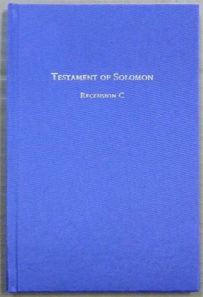 Testament of Solomon: Recension C. Brian - JOHNSON
