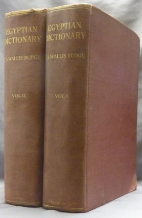 An Egyptian Hieroglyphic Dictionary ( Two volumes ); ( with an Index of English words, King list...