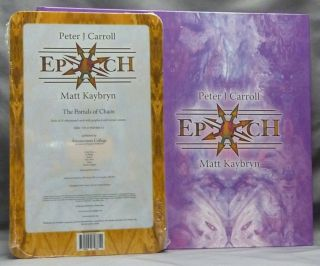 Epoch. The Esotericon & Portals of Chaos [ Book and Deck ]. Peter J. CARROLL, Matt Kaybryn, Signed