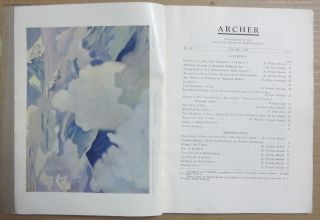 Archer, Publication of the Society of Friends of the Roerich Museum. Vol. II, January, 1928, No. 1 [ New York - International Prize Story ].