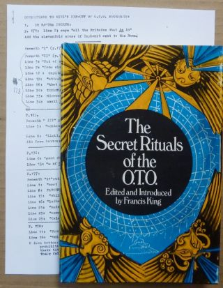 Secret Rituals of the O.T.O. [ OTO ]. Aleister CROWLEY, Edited and, Francis King