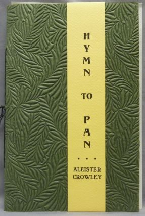 Hymn to Pan. Aleister CROWLEY