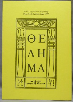 Thelema [ Letters in Greek ]. Aleister CROWLEY
