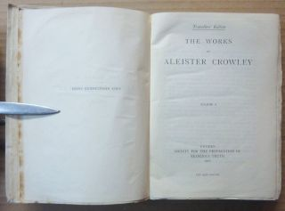 The Works of Aleister Crowley [ The Collected Works of Aleister Crowley ] (3 Volumes in 1).