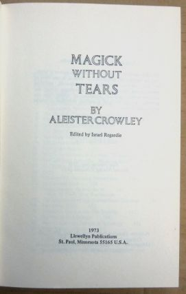 Magick Without Tears.