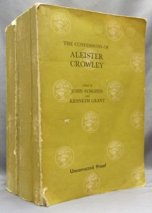 The Confessions of Aleister Crowley. Uncorrected Proof copy. Aleister CROWLEY, John Symonds,...