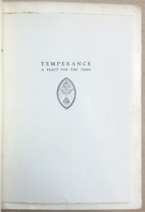 Temperance. A Tract for the Times.