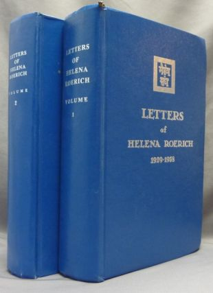 Letters of Helena Roerich 1935-1939. Volume I and II (Two volumes). Helena ROERICH