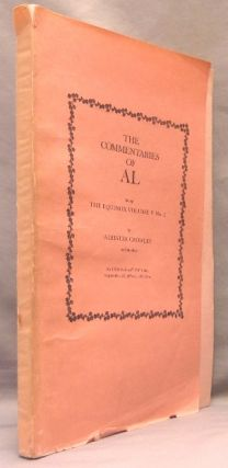 The Commentaries of AL. Being the Equinox Volume V, No. 1.