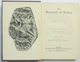 The Mysteries of Mithra.