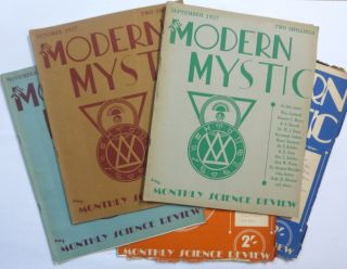 The Modern Mystic . Vol. 1 No. 1, January 1937; No. 2, February 1937; No. 3, March 1937; No. 4, April-May, 1937; No. 5, June, 1937; No. 8, September, 1937; No. 9, October, 1937; No. 10, November, 1937; No. 11, December, 1937, No. 12, January, 1938 [ later titled: The Modern Mystic and Monthly Science Review ] (10 Issues).
