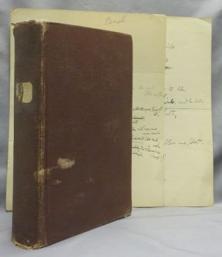 """""""Anna of Havana."""" The original holograph manuscript of a humorous poem, written over 2 pages, with extensive revisions and alternative verses."""