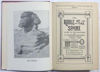 The Riddle of the Sphinx. A Key to the Mysteries and a Synthesis of Philosophy.